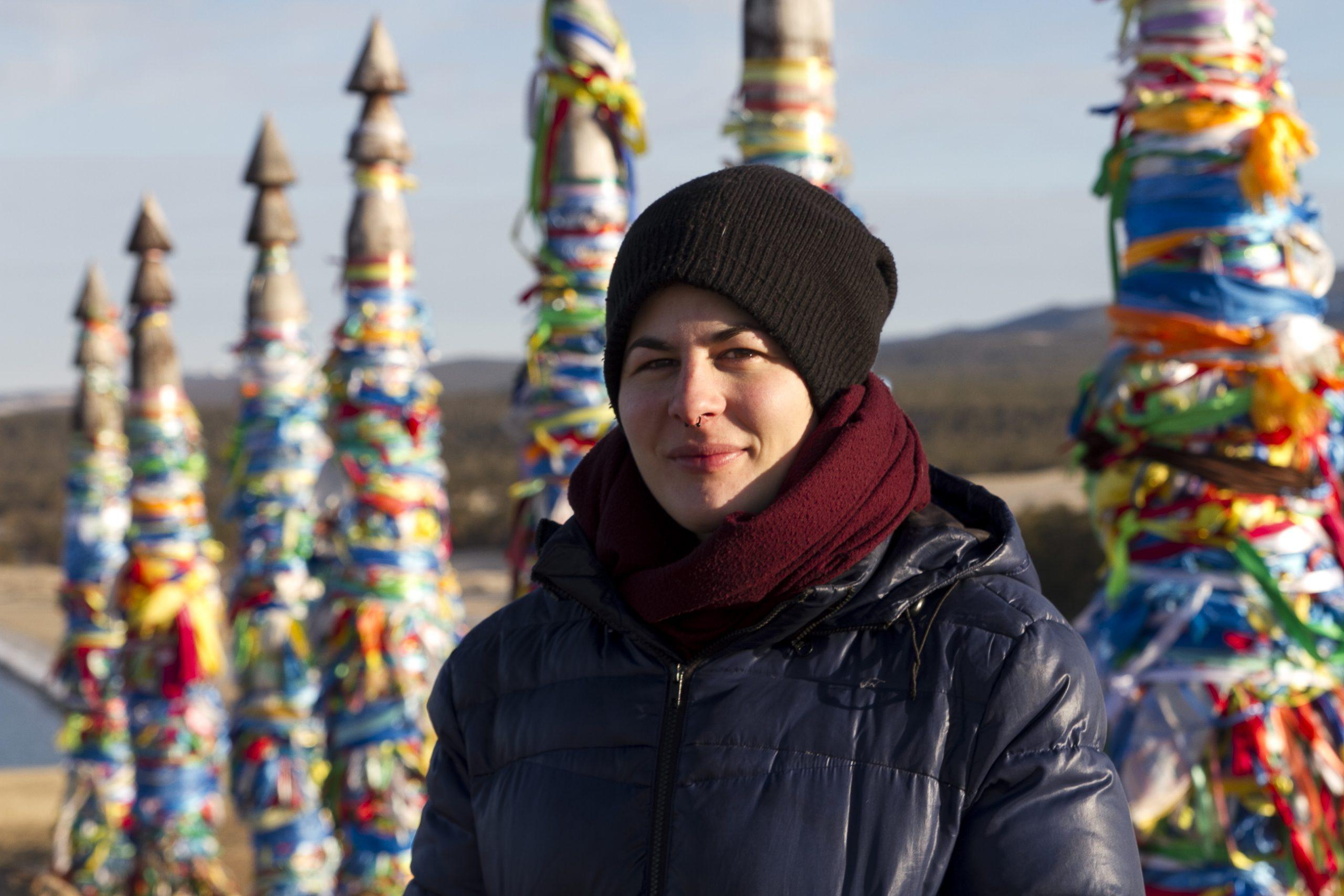 Marta Negro, viajando por Siberia en invierno
